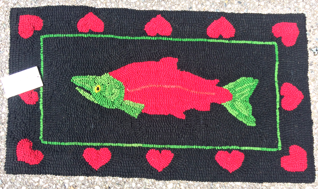 Salmon Love Rug Hook
