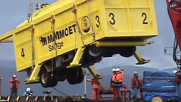 Salvaged fuel truck Robson Bight