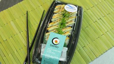 Bento box of sushi