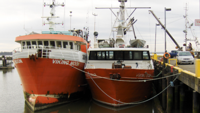 two bottom trawlers