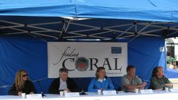 Finding Coral science team at launch