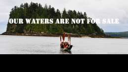 Our waters are not for sale