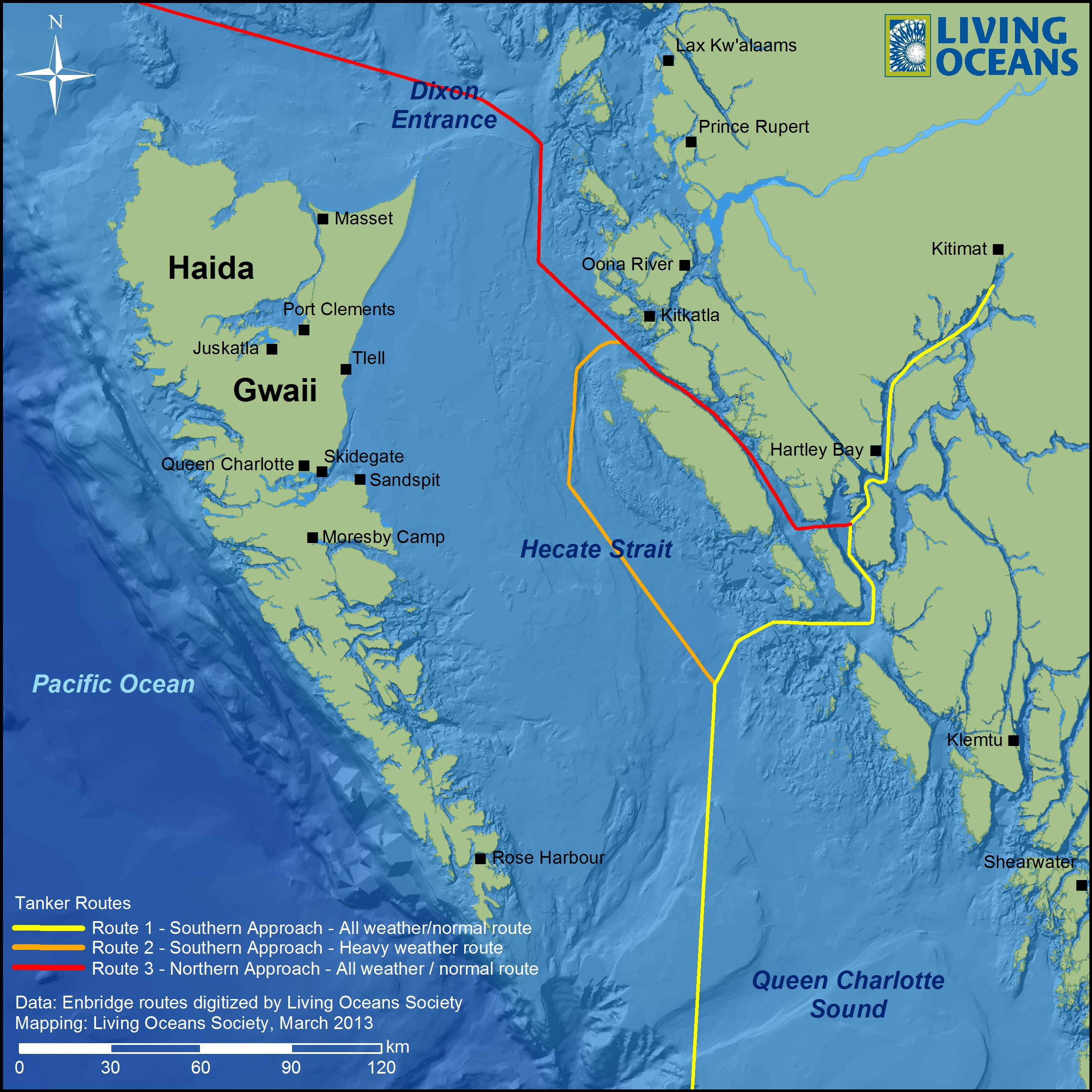 Proposed Tanker Routes Through The Inside Passage To